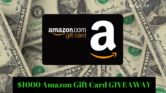 $1000 Amazon Gift Card Giveaway  Open to: United States Canada Other Location Ending on: 02/21/2018 Enter for a chance to win a $1000 Amazon Gift Card. Enter this Giveaway at Little Dirt Never Hurt  Enter the $1000 Amazon Gift Card Giveaway on Giveaway Promote.