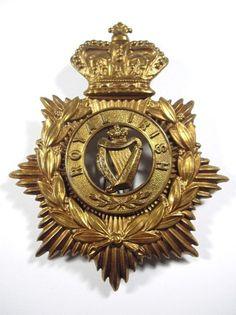 Royal Irish Regiment original Victorian Helmet Plate.