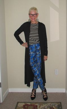 What We Wore: Plaid Pants - Two Take on Style
