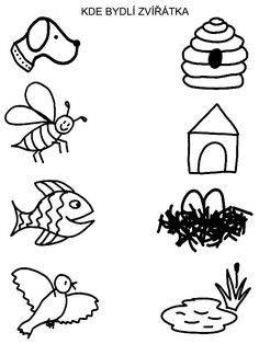 Pro Šíšu: Spojovačky Preschool Activity Books, Senses Preschool, April Preschool, Preschool Arts And Crafts, Montessori Preschool, Preschool Learning Activities, Free Preschool, Easy Kids Art Projects, Alphabet Coloring Pages