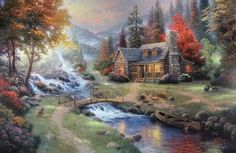Mountain Paradise - 24X36 SN Limited Edition Canvas