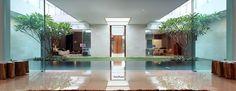 The Luxury Garden House in Jakarta Garden Villa, Home And Garden, Garden Homes, Garden Pool, Jakarta, Grey Gardens House, Home Inside Design, South Facing House, Houses In Poland