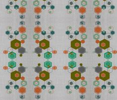 honeycomb-ed fabric by shy_bunny on Spoonflower - custom fabric