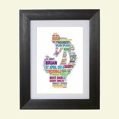 Holding Baby, Splish Splash, All Print, Special Gifts, Fathers Day, Daddy, Anniversary, Husband, Words