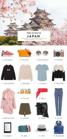 What to Bring to Japan: The Ultimate Packing Checklist Not sure what to bring to Japan? Read this packing checklist for useful advice, style tips and outfit suggestions for what to wear on your Japan vacation. Travel Clothes Women, Clothes For Women, Travel Clothing, Travel Packing Checklist, Packing Lists, Packing Ideas, Vacation Packing, Florida Vacation, Travel Essentials