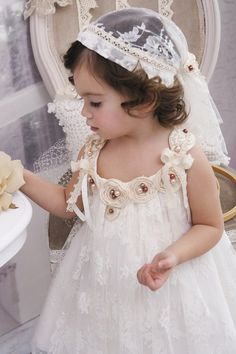 Christening  Gown  Christening  Dress Ivory by StyledByAlexandros