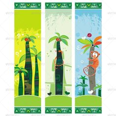 African jungle banners