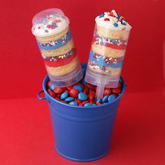 Patriotic Push Pop Cake