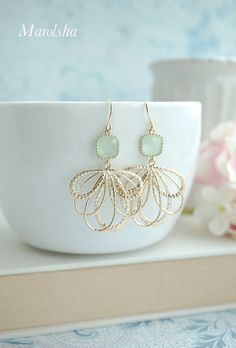 Hey, I found this really awesome Etsy listing at https://www.etsy.com/listing/172064834/feather-earrings-light-mint-earrings