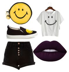 """Smile"" by tayjayne8 on Polyvore featuring Moschino, River Island, Joshua's and Lime Crime"