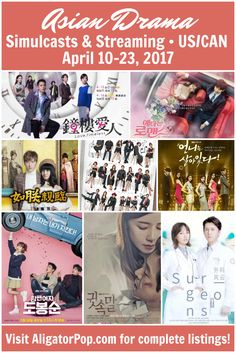 Where can I watch it with English subtitles? // Asian dramas with licensed, English-subbed simulcasts (U.S., Canada) for April 10-23, 2017. Premieres of My Secret Romance, Band of Sisters, Love Timeless, and Surgeons, plus Whisper, The King of Romance and the finales of Strong Woman Do Bong Soon and Our Gab Soon. #kdrama #tdrama #cdrama #streaming #simulcasts