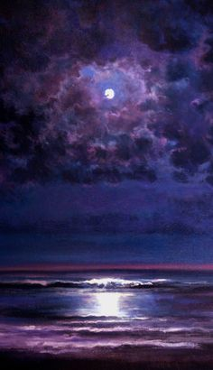 """Time and Tide"" Painting by Keith P Burnett      NOTE great painting even without the ocean; sky only - mjm"