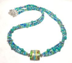 Three Strand Necklace Multi Strand Necklace by EclecticDesigns