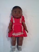 BLACK AMERICANA BABY DOLL BY THE SUN RUBBER CO, VINTAGE 1950's