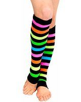 Neon Rainbow Legwarmers,3931,multi-colored,One-Size