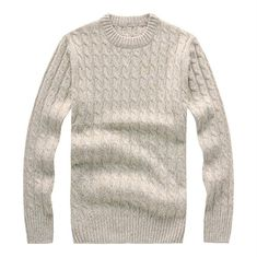 Blanc Homme Tricot Confort épaissir Tees Tops Pulls Slim Fit Tops Fashion HOT