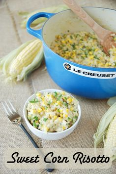 Sweet Corn Risotto. Reinforced my love for risotto! Definitely making this again.