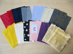 Montessori Sensorial Fabric box material Pairing Matching 12 pairs Touch Fabric