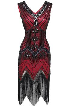 BABEYOND Women's Flapper Dresses 1920s V Neck Beaded Fringed Great Gatsby Dress | Clothing, Shoes & Accessories, Women's Clothing, Dresses | eBay!