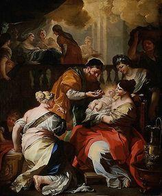 """""""Birth of John the Baptist."""" Francesco Solimena, 1690. The Met, NY."""