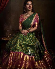 Half Saree Lehenga, Lehenga Saree Design, Lehnga Dress, Lehenga Designs, Anarkali, Lehanga Saree, Frock Dress, Net Lehenga, Lehenga Blouse