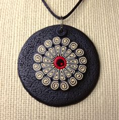 Jelly Roll Cane Pendant Design by Debi L. Drew  ~ Polymer Clay Tutorials