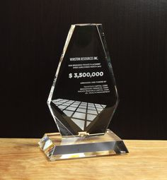 Financial tombstones and deal toys are enduring symbols of your efforts and shared successes. Browse our collection of classic financial tombstones here. Glass Awards, Crystal Awards, Tombstone Designs, Employee Awards, Personalized Plaques, Trophy Design, Custom Awards, Recognition Awards, Service Awards