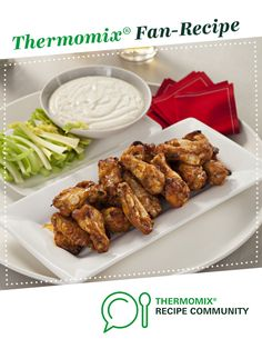 Recipe Buffalo Wings by Thermomix, learn to make this recipe easily in your kitchen machine and discover other Thermomix recipes in Main dishes - meat. Buffalo Wings, Fresco, Roasting Bags, Blue Cheese Sauce, Wing Recipes, Recipe Community, Serving Dishes, Tray Bakes, Tandoori Chicken