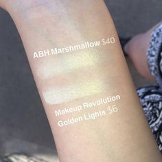 Instead of Anastasia Beverly Hills Marshmallow highlighter ($40) try Makeup Revolution Golden Lights ($6) to save $34.
