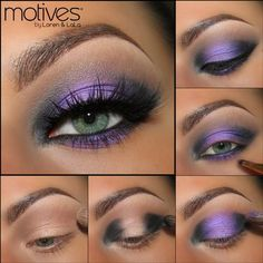 Onyx & Fantasy purple eye shadow