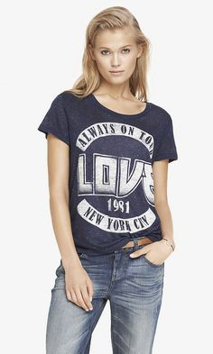 OVERSIZED GRAPHIC TEE - ALWAYS LOVE   Express