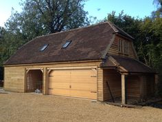 Professional and experienced builders of Oak Framed Garages in Oxfordshire, Hampshire, Berkshire and Buckinghamshire. Timber Frame Garage, Oak Framed Buildings, Garage Loft, Garage Apartments, Garages, Hampshire, Shed, Lounge, Outdoor Structures