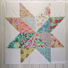 Giant Floral Star Quilt Kit