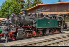 104 Blonay-Chamby Railroad Museum G 2x3/3 at Chamby, Switzerland by Georg Trüb