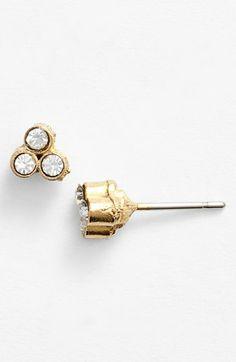 triple crystal stud earrings / nordstrom