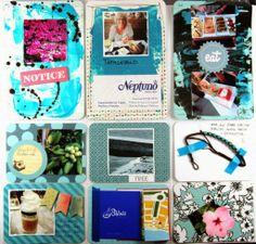 Andrine & Marens Landhandleri Project Life, Scrapbook, Free, Pocket, Cover, Projects, Blog, Cards, Decor