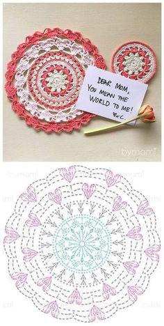 Best 12 mandalas a crochet patrones – SkillOfKing. Motif Mandala Crochet, Crochet Circles, Crochet Doily Patterns, Crochet Blocks, Crochet Diagram, Freeform Crochet, Crochet Chart, Crochet Doilies, Crochet Stitches