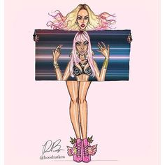 #Madonna #NickiMinaj #BitchImMadonna #fashion #illustration by @hoodratken