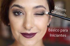 Como fazer um olho marrom esfumado básico para iniciantes - por Taís An...