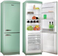 green vintage fridge