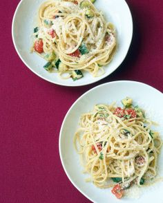 Roasted Zucchini and Tomato Pasta __ (Martha Stewart - Everyday Food, Mar/Apr 2003)