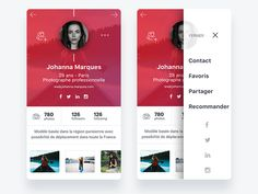 Card Artist Photographer designed by Merdy. Mobile App Ui, Mobile App Design, Ui Design, Graphic Design, Phone, Artist, Cards, Website, Telephone