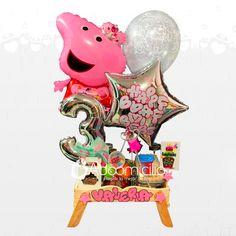Birthday Balloon Decorations, Birthday Balloons, Ideas Para Fiestas, Christmas Ornaments, Holiday Decor, Gifts, School, Basket Gift, Kids Birthday Surprises