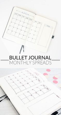Monthly Spreads - Ideas and Inspiration Bullet Journal Monthly Spreads. I need a new system to plan out my months. This post has some great ideas. I need a new system to plan out my months. This post has some great ideas. Bullet Journal Design, Planner Bullet Journal, Bullet Journal Monthly Spread, Bullet Journal How To Start A, Bullet Journal Inspo, My Journal, Journal Pages, Bullet Journals, Bujo Monthly Spread