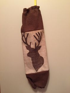 Grocery Bag Dispenser, Grocery Bag Holder, Plastic Grocery Bags, Christmas Stockings, Woods, Deer, My Etsy Shop, Holiday Decor, Unique Jewelry