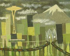Seattle, by artist Matte Stephens