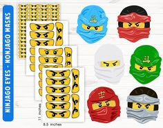 Ninjago eyes Ninjago mask Printable/digital files