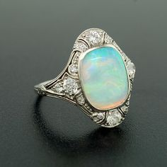 vintage opal ring from the 1920's