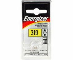 Energizer Silver Oxide Blister Pack Watch/Electronic Batteries 1.55v, 6 Count Batteries (Pack of 2) by Energizer. $8.31. Bright clear package graphics with helpful icons. Supplies 1.55 volts. Cross-reference information on front of package. Large type clearly indicates cell size. 1.5V Silver OxideCardboard card for peg hook