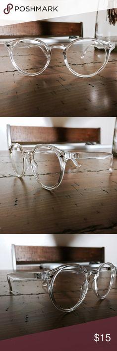 2edad8bad3d Crystal Clear Pantos Glasses Clear Frame Pantos Glasses
